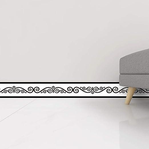 Schlafzimmer Fliesen-Dekor-Aufkleber dicke Tapetenbord/üre Bord/üren grau selbstklebend Arbeitszimmer Flur wasserdichte Vinyl-Wandverkleidung K/üche 15 x 300 cm Heimdekoration Badezimmer