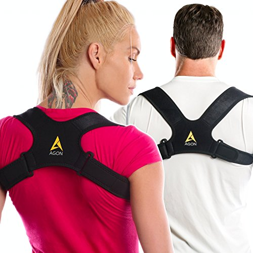 Agon Posture Corrector Clavicle Support Strap, Posture Brace Medical Device to Improve Bad Posture, Thoracic Kyphosis, Shoulder Alignment, Upper Back Pain Relief for Men and Women (Large/X Large)