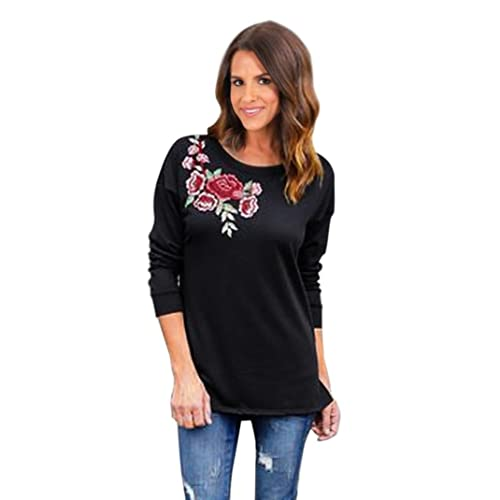 Mujer camisa de manga larga, Yannerr casuales populares blusa de impresión Tops Jersey