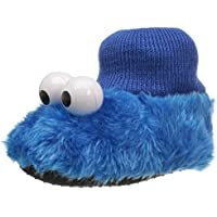 Image of Blue Cookie Monster Slippers for Toddlers