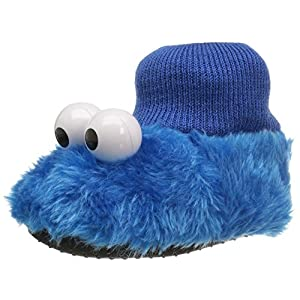 Sesame Street Kids' Cookie Monster Puppet Slipper