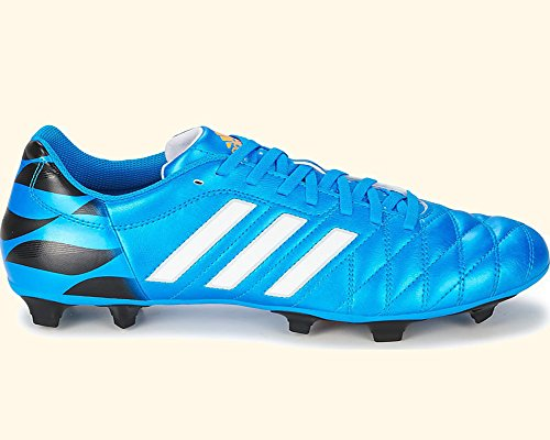 adidas Performance Men's 11Questra Firm-Ground Soccer Cleat Solar Blue/White/Black collections sale online 8ePbR