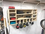 Wooden DIY Cordless Drill Storage Charging Station