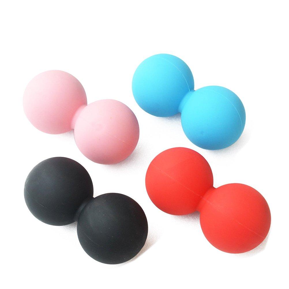 winomo Masaje de Cacahuete Ball Trigger punto Cuerpo Músculos estrés Desmontaje para Myofascial Release, Rosa