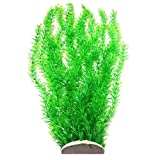 Lantian Grass Cluster Aquarium Décor Plastic Plants Extra Large 23 Inches Tall, Green