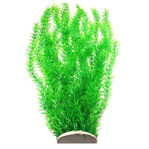 Lantian Grass Cluster Aquarium Décor Plastic Plants Extra Large 23 Inches Tall, Green by Lantian
