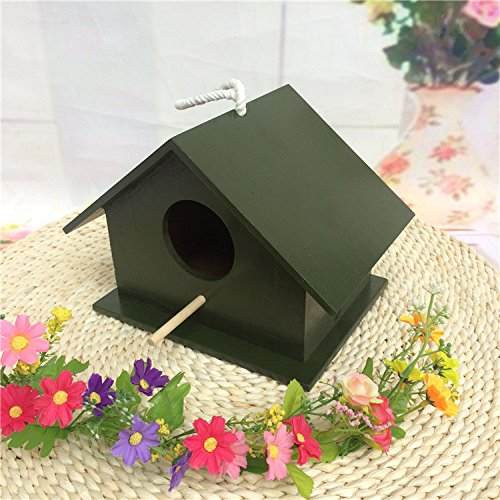 Outdoor Window Mounted Weather Resistance Real Wood Bird House Decoration Funny Cage Pecute Birds Nest Pet