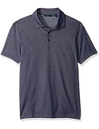 Perry Ellis Men's Standard Solid Interlocked Polo Shirt