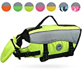 Vivaglory Dog Life Jackets with Extra Padding for Dogs, X-Large - Extra Reflective Yellow