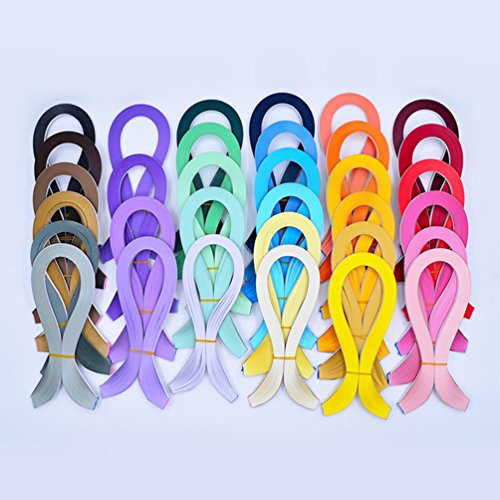 YURROAD Paper Quilling Kits 5mm Wide Paper with 33 Colors 3960 Strips and Slotted Tool (33 Pack 33 Colors) by YURROAD (Image #7)