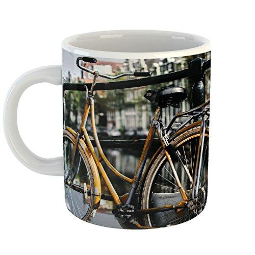 (Westlake Art - Bike Fence - 11oz Coffee Cup Mug - Modern Picture Photography Artwork Home Office Birthday Gift - 11 Ounce (FD04-A734E))