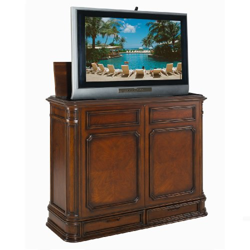 Import Advantage Crystal Pointe Stained TV console with lift