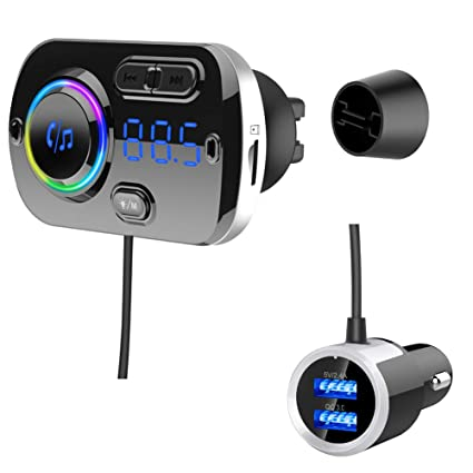 Amazon com: Bluetooth Car FM Transmitter,HIDOU Bluetooth5 0