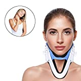 Neck Support, Adjustable Brace Traction Cervical Traction Fixation Spine Care Correction Protection Pain Relief