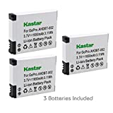 Kastar AHDBT-002 Battery (3-Pack) for GoPro AHDBT-001 - AHDBT-002 work with GoPro HD HERO1 - HERO2 - GoPro Original HD HERO Cameras