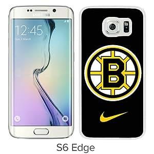 Hot Sale Samsung Galaxy S6 Edge Screen Cover Case With boston bruins White Samsung Galaxy S6 Edge Case Unique And Beautiful Designed Phone Case