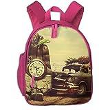 3D Pineapple Cat Bird Restoring Ancient Ways Children School Bag Book Backpack Outdoor Travel Pocket Double Zipper