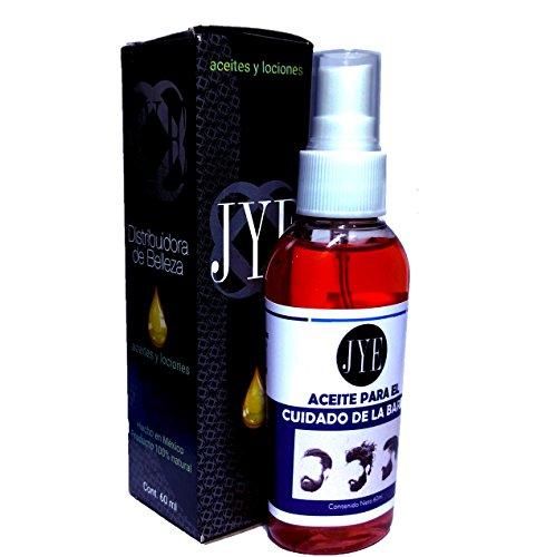 Aceite JYE para el cuidado de la barba y bigote, acondicionador, brillo y fuerza 60 ML