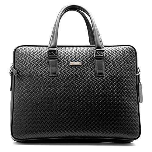 Top Class Genuine Leather Handbag Men Briefcase Laptop Tote Bag Work Shoulder Messenger Business Handmade Bags
