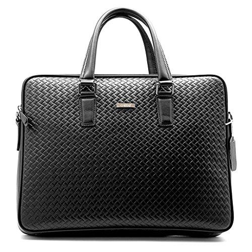Top Class Genuine Leather Handbag Men Briefcase Laptop Tote Bag Work Shoulder Messenger Business Handmade Bags