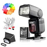 Godox Ving V860IIS 2.4G GN60 TTL HSS 1/8000s Li-on Battery Camera Flash Speedlite for Sony DSLR Cameras - 1.5S Recycle Time 650 Full Power Pops Supports TTL/M/Multi/S1/S2