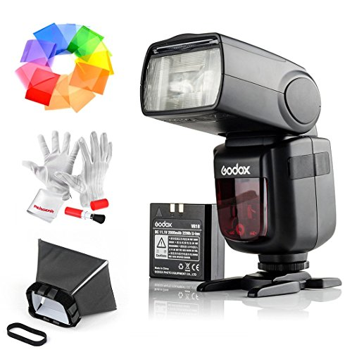 Godox Ving V860IIS 2.4G GN60 TTL HSS 1/8000s Li-on Battery Camera Flash Speedlite Sony DSLR Cameras - 1.5S Recycle Time 650 Full Power Pops Supports TTL/M/Multi/S1/S2