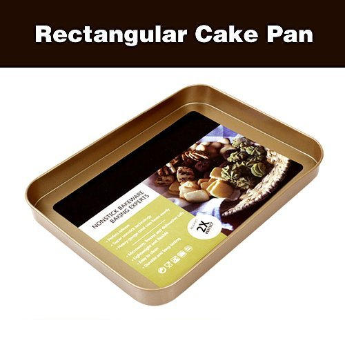 Hiltow Nonstick Bakeware 10-Inch x 7.4-Inch Cake Pan,Gold