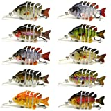 "3"" Crazy Panfish Series Multi Jointed Fishing Hard Lure Bait Swimbait Life-like Floating"
