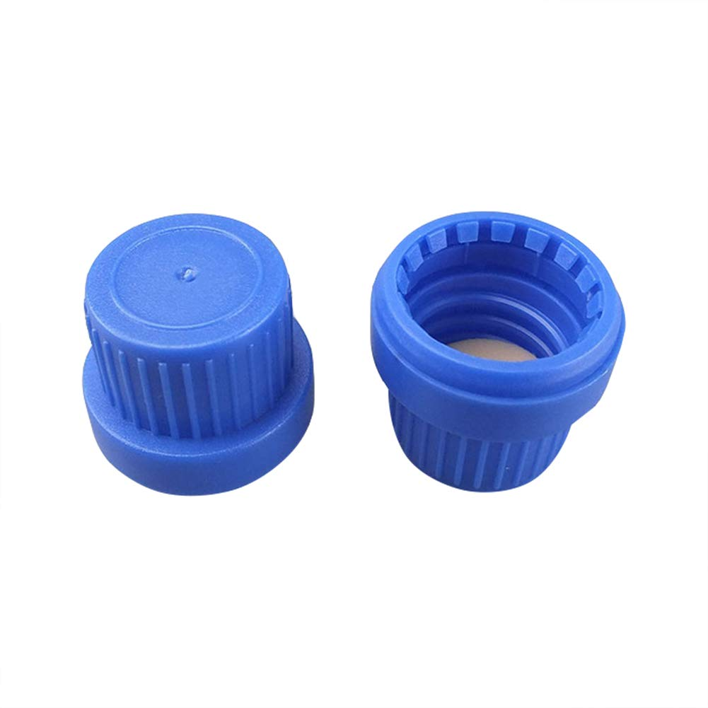 Adamas-Beta Blue Coded Screw Cap, Internal Molded Seal Ring,Polypropylene,Ribbed Style Size D×H:25×21mm(Pack of 40)