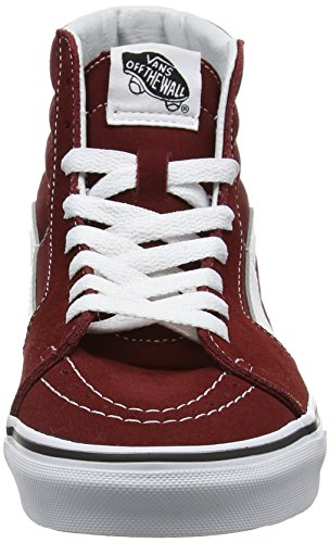 Vans Sk8-Hi, Scarpe Running Unisex-Adulto Rosso (Madder Brown/True White)