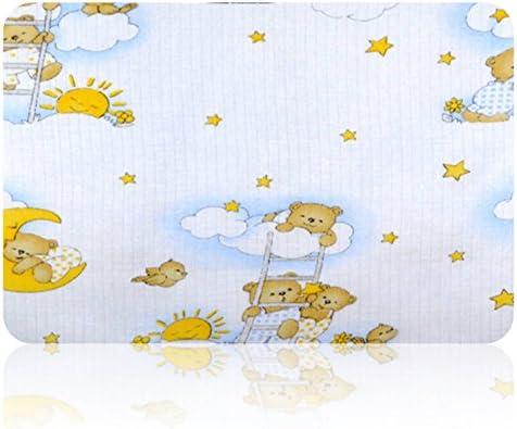 Gasas Impreso 5 Pack multicolor para Vómitos paños pañales de tela 70 x 80 algodón nuevo (Osos Cielo Blanco): Amazon.es: Bebé