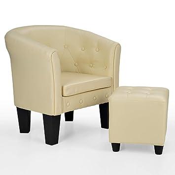 Homelux Chesterfield Sessel Und Sitzhocker Aus Kunstleder Und Holz Mit Rautenmuster Farbwahl Lounge Sessel Clubsessel Armsessel Cocktailsessel