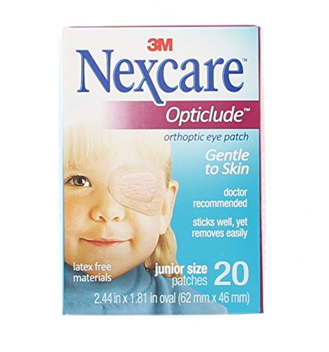 Nexcare Opticlude Orthoptic Eye Patches Junior 20 Each (Pack of 3)