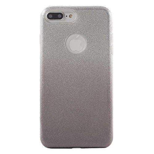 FSHANG Rose Gradient Glitter TPU + PC Tasche Hüllen Schutzhülle Case für iPhone 7 Plus 5.5 Inch - schwarz