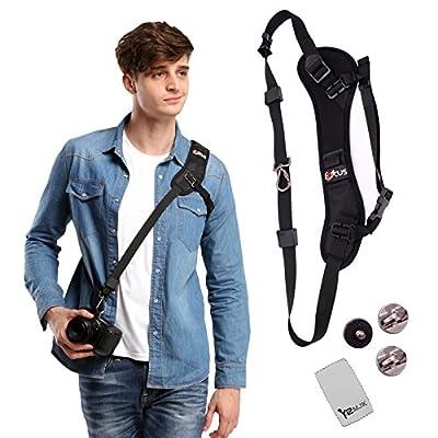 YRMJK camera strap Belt Quick Rapid Shoulder Sling Neck for Camera DSLR(Black) by YRMJK