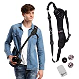 YRMJK camera strap Belt Quick Rapid Shoulder Sling Neck for Camera DSLR(Black)