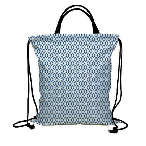 6be0fa344197 Galleon - 3D Print Drawstring Bag String Backpack,Ikat,Nautical ...