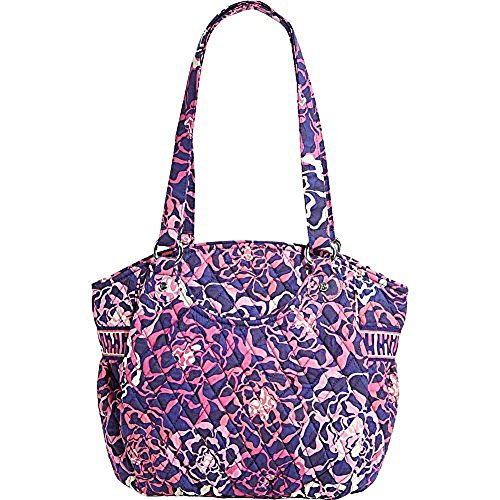 Tote Pink Fabric Handbags - 9