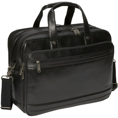 eBags Laptop Collection Wall Street Deluxe Full-Grain Leather Laptop Brief, Bags Central