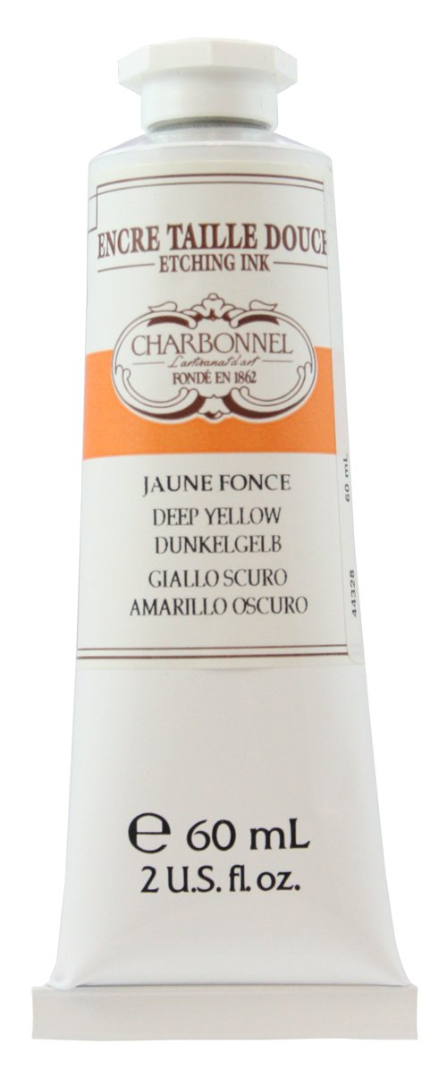 Lefranc and Bourgeois Charbonnel Etching Ink, Dark Yellow, 60ml Tube - Kupferdruckfarbe