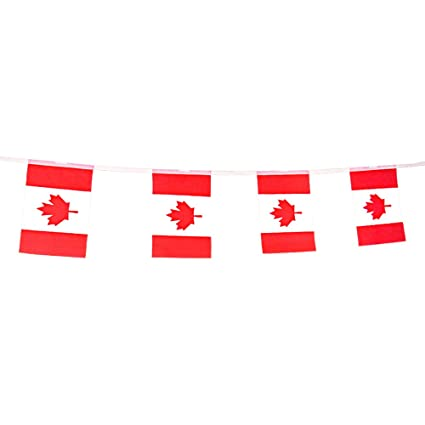 amazon com canada flag banner canadian string flags pennant for