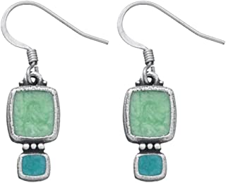 product image for DANFORTH - Harmony/Summer Earrings - 3/4 Inch - Pewter - Surgical Steel Wires - Handcrafted - USA