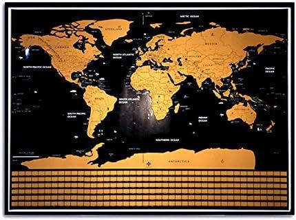 Travel Tracker Map 43.18 X 60.96 Centimeter Scratch Off World Map with Flags LANDMASS