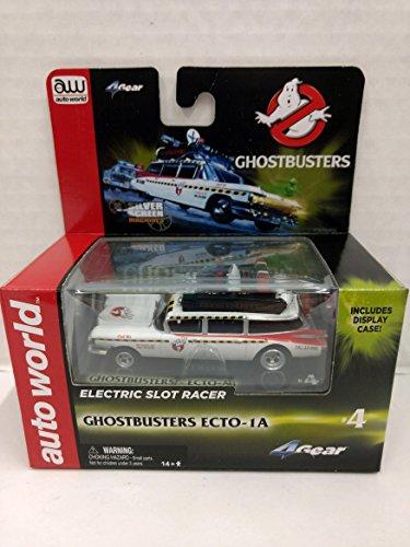 Scale Electric Slot Car - Auto World SC321 Ghostbusters Ecto-1A HO Scale Electric Slot Car