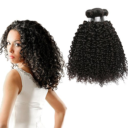 8A Mongolian Kinky Curly Hair 3/4 Bundles Bohemian Curly Mongolian Kinky Curly Virgin Hair Afro Kinky Curly 100% Unprocessed Virgin Human Hair (18 20 22) from Dream Diana
