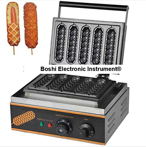 Boshi Electronic Instrument FY117 Commerical/Home use Non-stick 5pcs 110v 220v Electric French Hot Dog Waffle On a Stick Maker Baking Equipment CE Certification