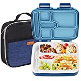 Lunch Box for Kids, NEXTAMZ Upgrade Leak-Proof Bento Box, 6-Compartment Lunch Containers for Boys Girls Adults-Meal Fruit Snack Packing for Picnic Outdoors, Freezer and Microwave Safe- With Lunch Bag