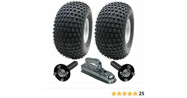 ATV juego de remolque - remolque quad - Ruedas + hub / ramal + enganche, 310kg, los Neumáticos hijo 22x11.00-8 4ply P323 Wanda Knobby