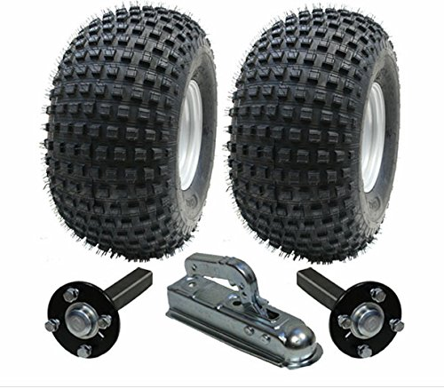 Kit de remorque ATV - Quad trailer - roues + moyeu / talon + ...