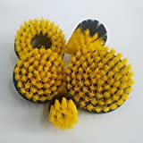 5pcs 2/3.5/4/5 Inch Drill Brushes Scrubber Cleaning Brush Yellow/Blue/Red - (Color: Yellow)